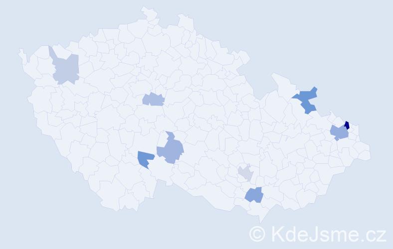 Příjmení: 'Kalisch', počet výskytů 18 v celé ČR