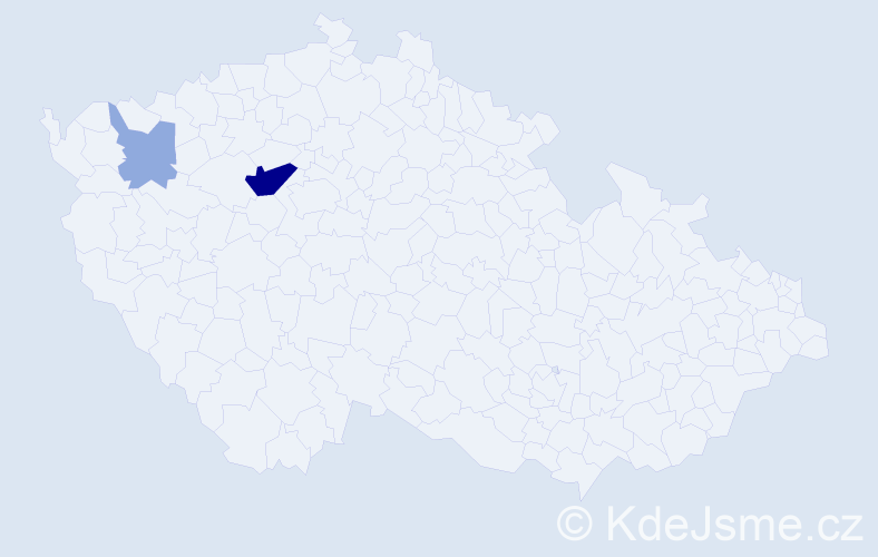 Příjmení: 'Gricyková', počet výskytů 7 v celé ČR