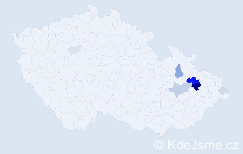 Příjmení: 'Černavová', počet výskytů 14 v celé ČR