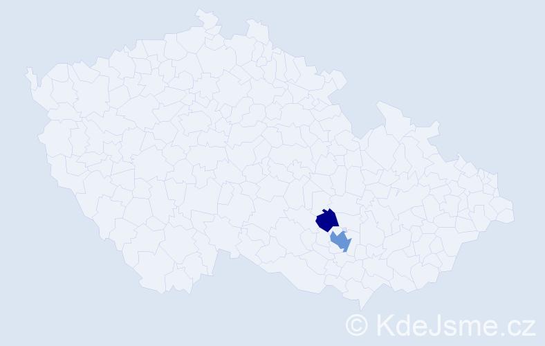 Příjmení: 'Kletzander', počet výskytů 4 v celé ČR