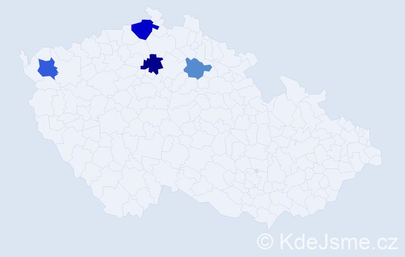 Příjmení: 'Kalfář', počet výskytů 8 v celé ČR