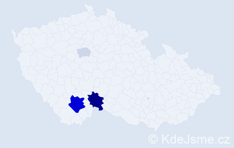 Příjmení: 'Gassenbauerová', počet výskytů 4 v celé ČR