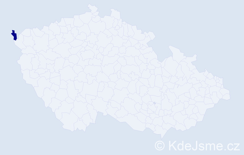 Příjmení: 'Cichíová', počet výskytů 3 v celé ČR