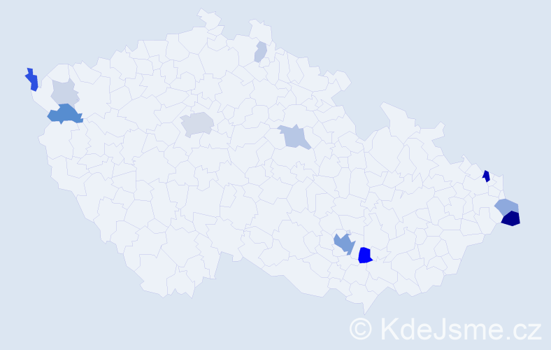 Příjmení: 'Friedman', počet výskytů 41 v celé ČR