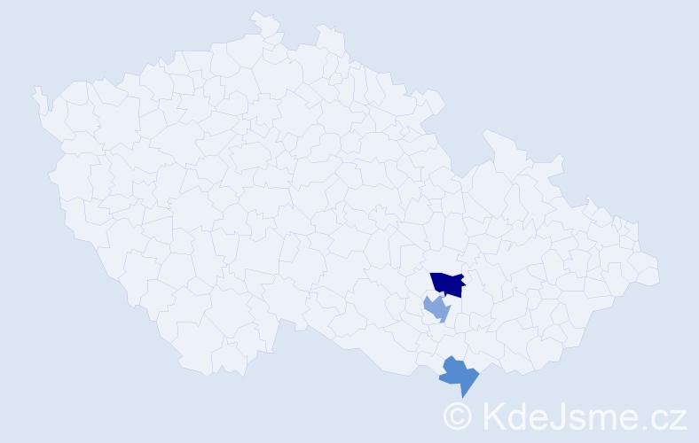 Příjmení: 'Babjárová', počet výskytů 5 v celé ČR