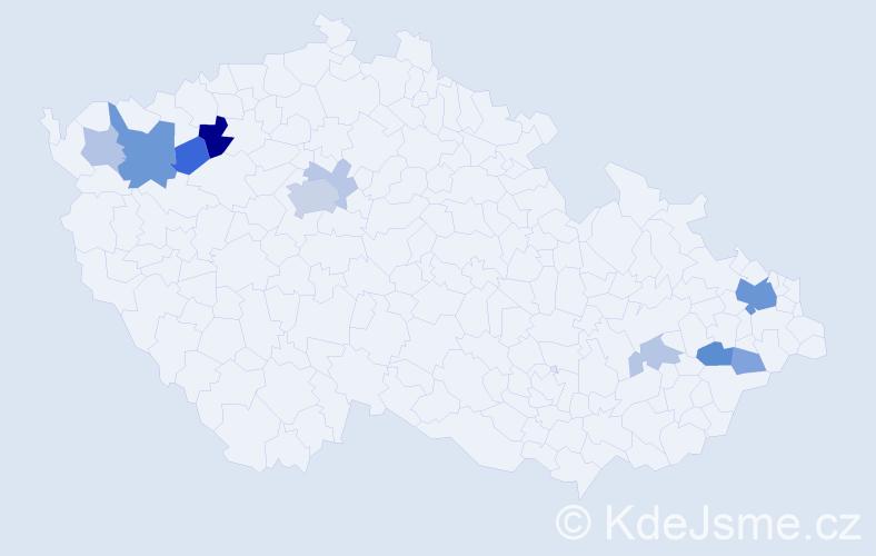 Příjmení: 'Janoško', počet výskytů 27 v celé ČR