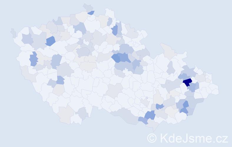 Příjmení: 'Dubcová', počet výskytů 320 v celé ČR
