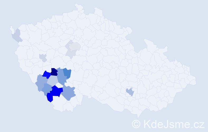 Příjmení: 'Batysta', počet výskytů 40 v celé ČR