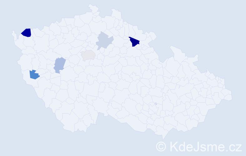 Příjmení: 'Funfera', počet výskytů 11 v celé ČR