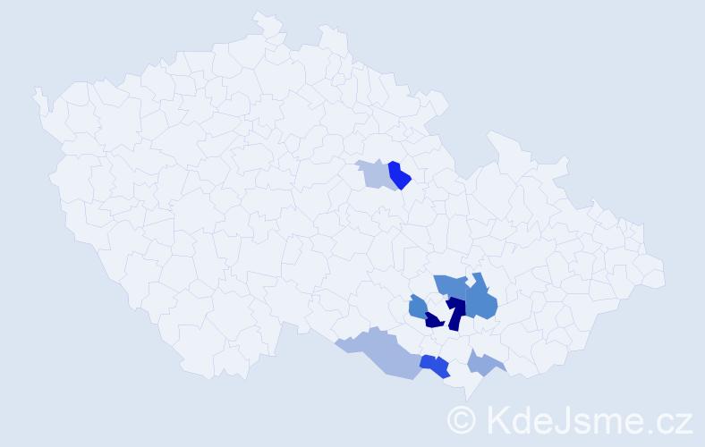 Příjmení: 'Idrná', počet výskytů 15 v celé ČR