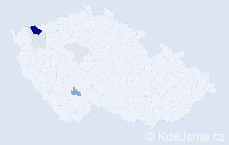 Příjmení: 'Eisenkolbová', počet výskytů 21 v celé ČR