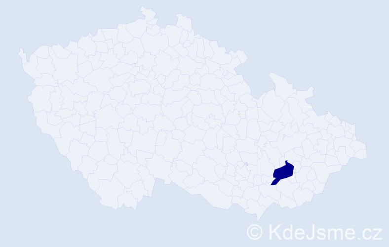 Příjmení: 'Brúna', počet výskytů 5 v celé ČR