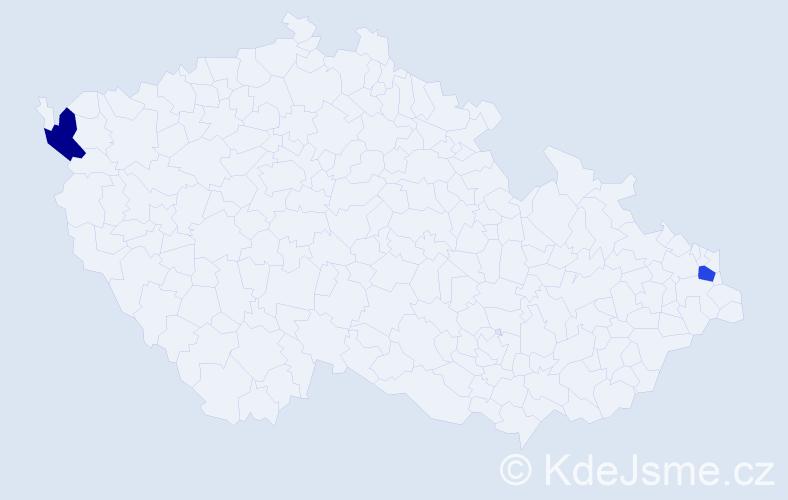 Příjmení: 'Filipčák', počet výskytů 2 v celé ČR