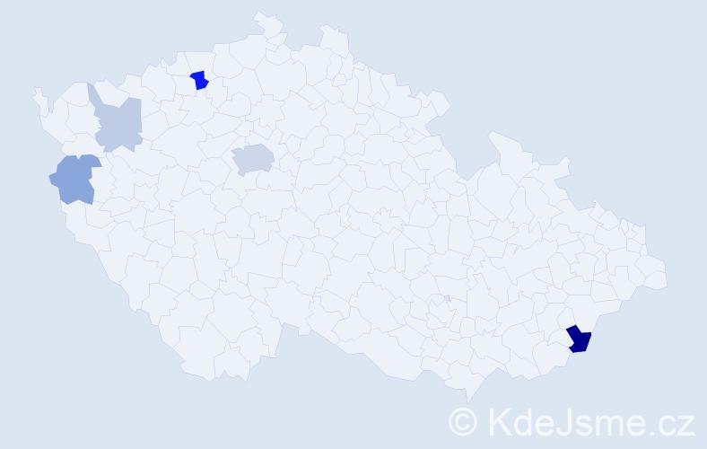 Příjmení: 'Drgoň', počet výskytů 13 v celé ČR