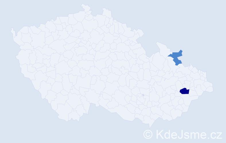 Příjmení: 'Kleindorfová', počet výskytů 3 v celé ČR