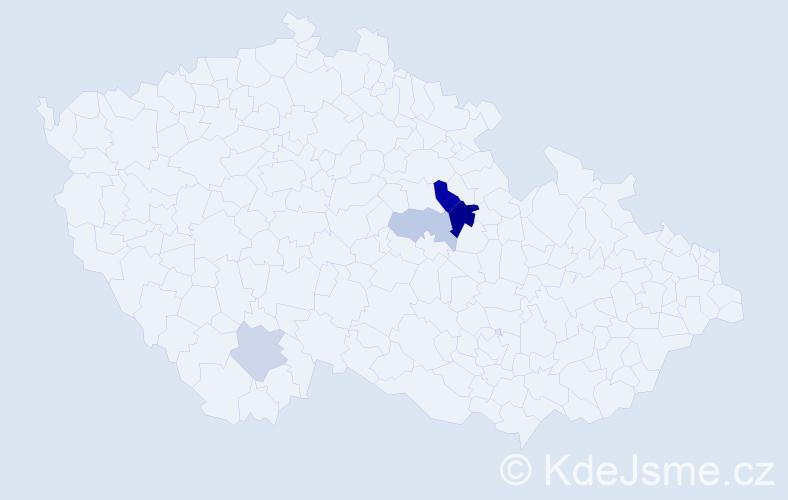 Příjmení: 'Bahrij', počet výskytů 8 v celé ČR