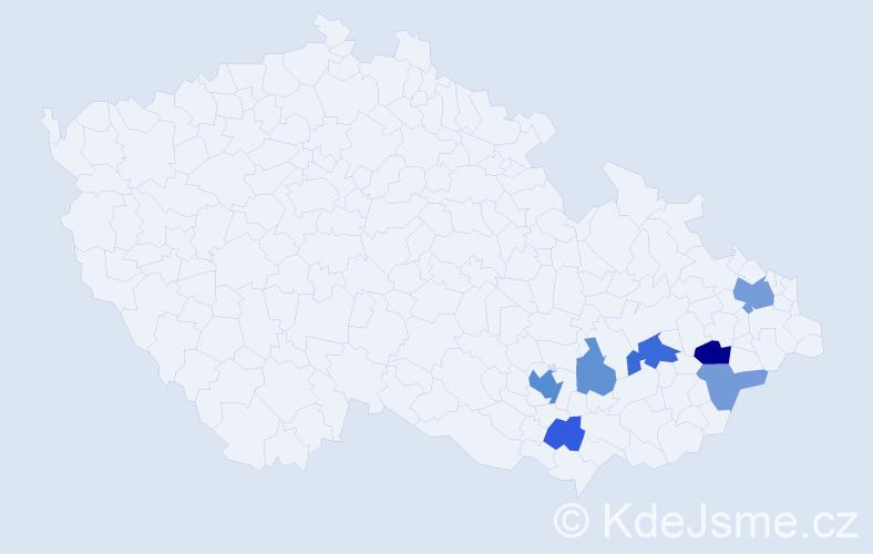 Příjmení: 'Draška', počet výskytů 15 v celé ČR