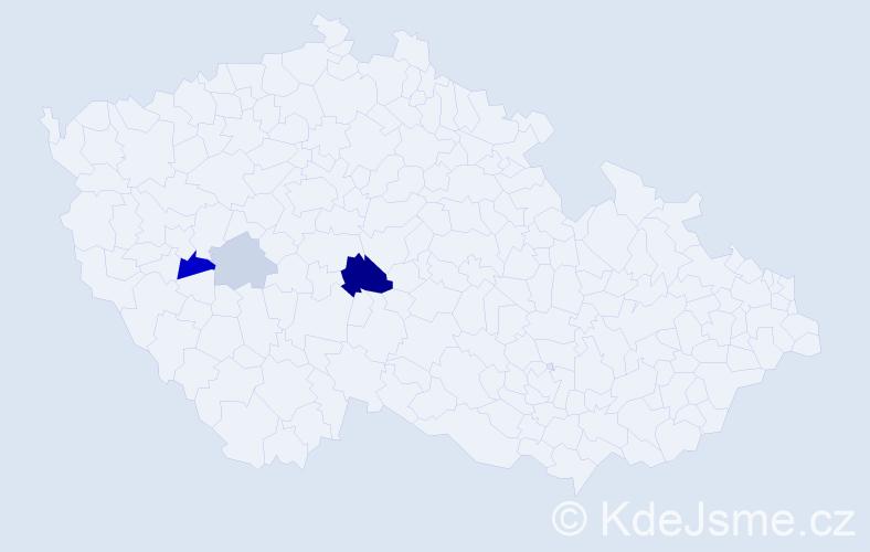Příjmení: 'Irion', počet výskytů 8 v celé ČR
