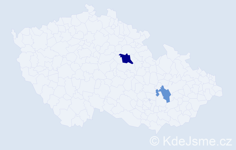 Příjmení: 'Henneberg', počet výskytů 8 v celé ČR
