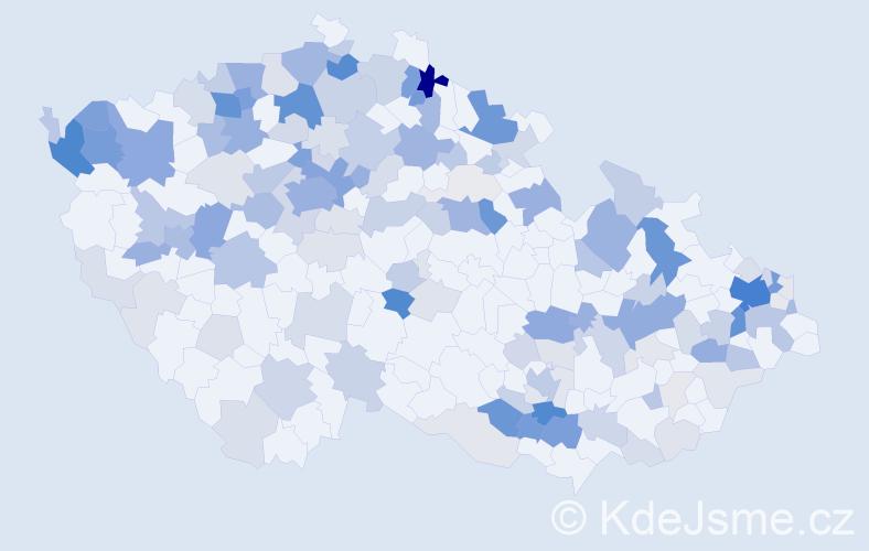 Příjmení: 'Friedrichová', počet výskytů 474 v celé ČR
