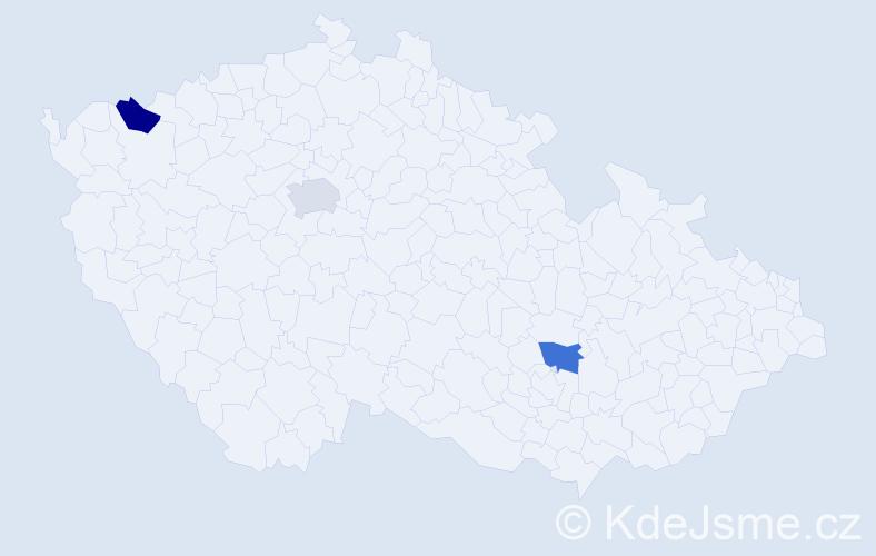Příjmení: 'Laita', počet výskytů 3 v celé ČR