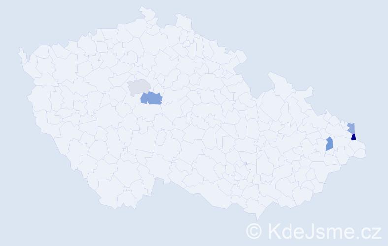 Příjmení: 'Jędrysek', počet výskytů 7 v celé ČR