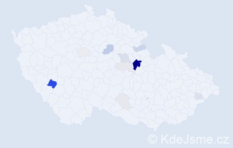 Příjmení: 'Bartheldy', počet výskytů 41 v celé ČR