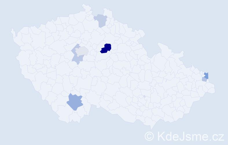 Příjmení: 'Laluchová', počet výskytů 12 v celé ČR