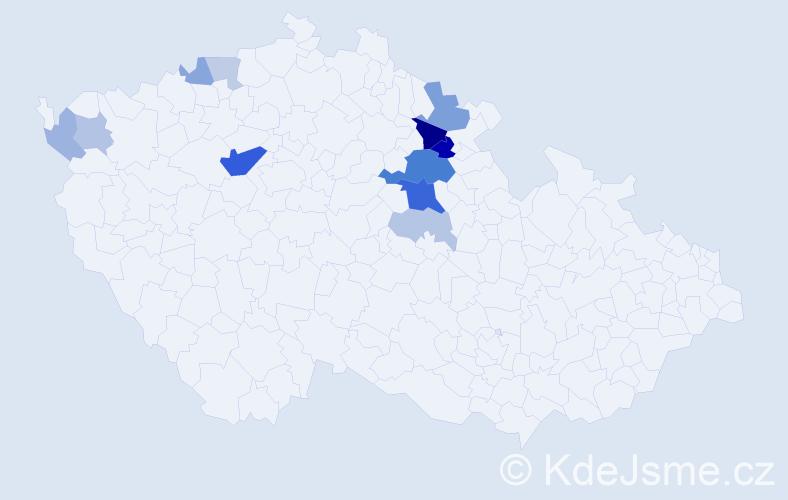 Příjmení: 'Lamerová', počet výskytů 30 v celé ČR