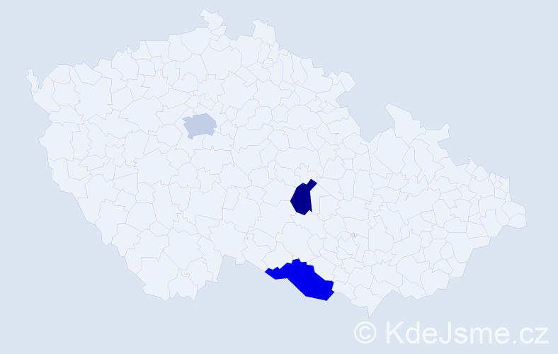 Příjmení: 'Čaháková', počet výskytů 8 v celé ČR