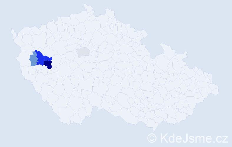 Příjmení: 'Hasch', počet výskytů 32 v celé ČR