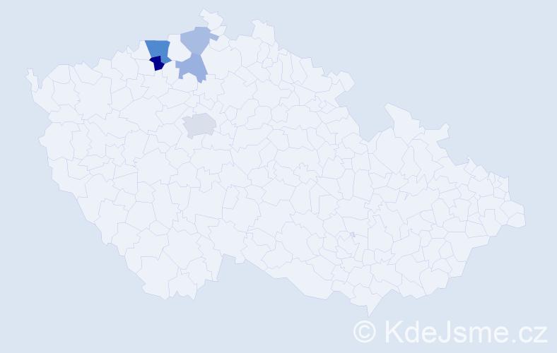 Příjmení: 'Laněová', počet výskytů 11 v celé ČR