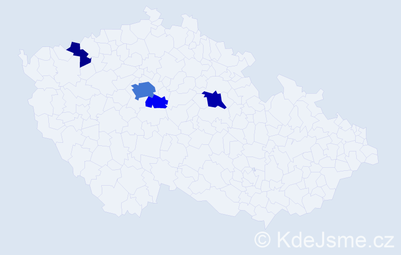 Příjmení: 'Jeřábová', počet výskytů 12 v celé ČR