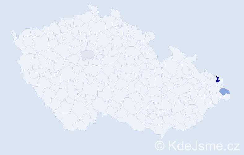 Příjmení: 'Czaplová', počet výskytů 7 v celé ČR