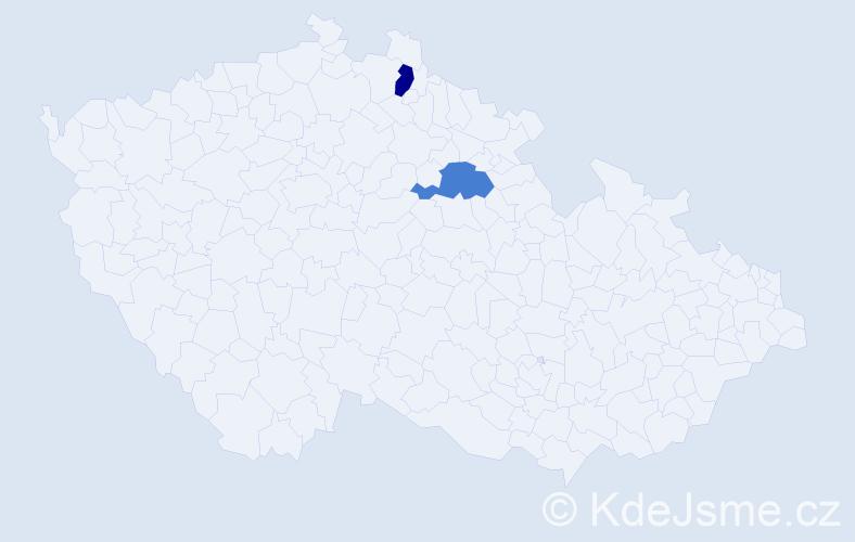 Příjmení: 'Chang', počet výskytů 2 v celé ČR