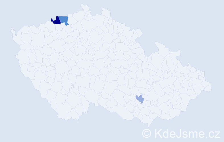 Příjmení: 'Čarády', počet výskytů 3 v celé ČR