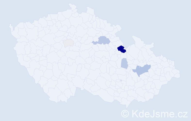 Příjmení: 'Charfreitag', počet výskytů 23 v celé ČR