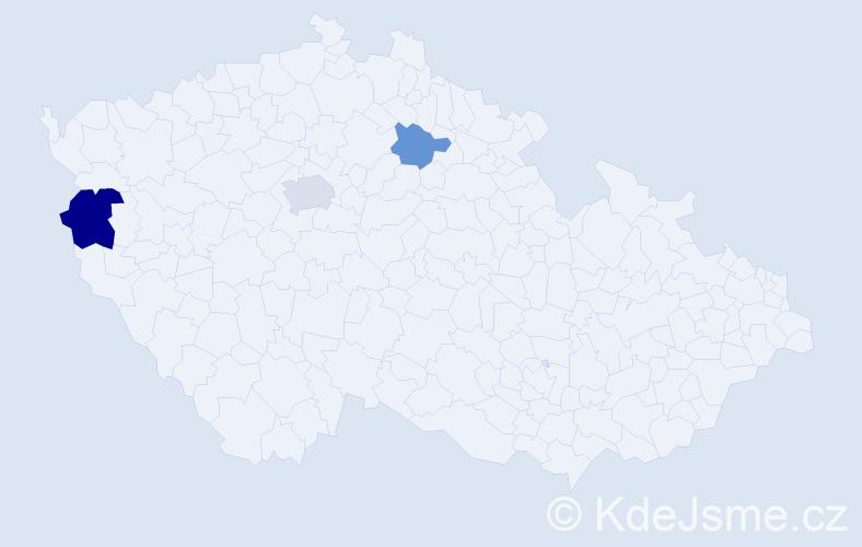 Příjmení: 'Hayer', počet výskytů 14 v celé ČR