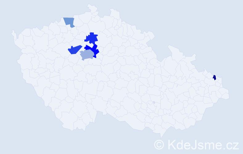 Příjmení: 'Báršoňová', počet výskytů 11 v celé ČR
