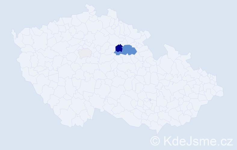 Příjmení: 'Čukatová', počet výskytů 8 v celé ČR