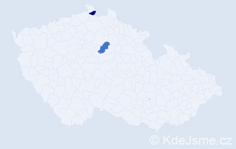 Příjmení: 'Berlin', počet výskytů 4 v celé ČR