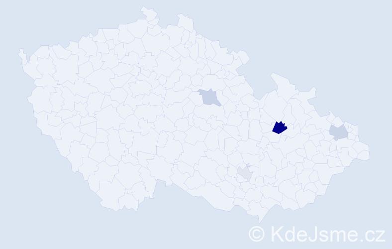 Příjmení: 'Čanová', počet výskytů 7 v celé ČR