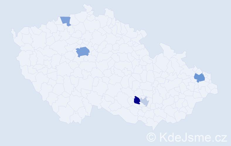 Příjmení: 'Kliská', počet výskytů 14 v celé ČR