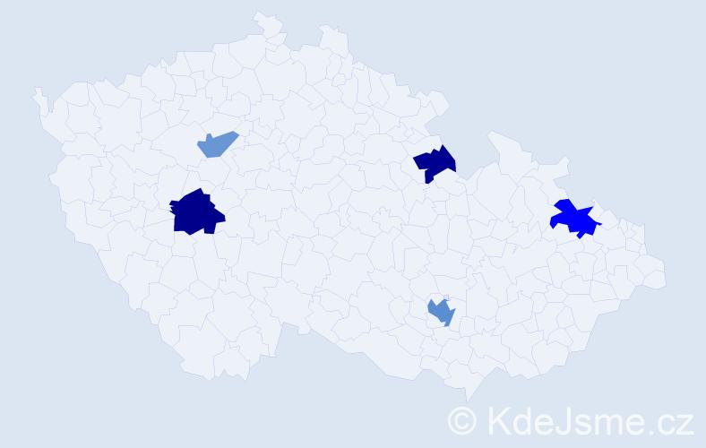Příjmení: 'Černin', počet výskytů 9 v celé ČR