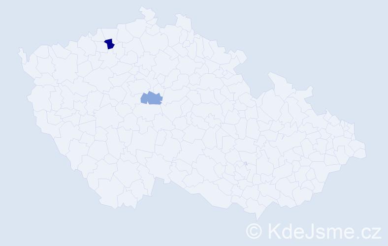 Příjmení: 'Haiš', počet výskytů 11 v celé ČR