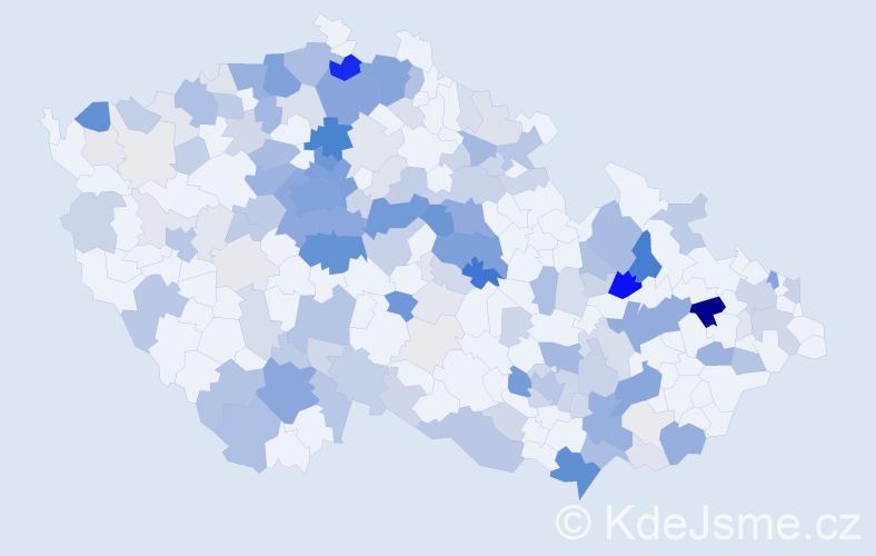 Příjmení: 'Konrád', počet výskytů 668 v celé ČR