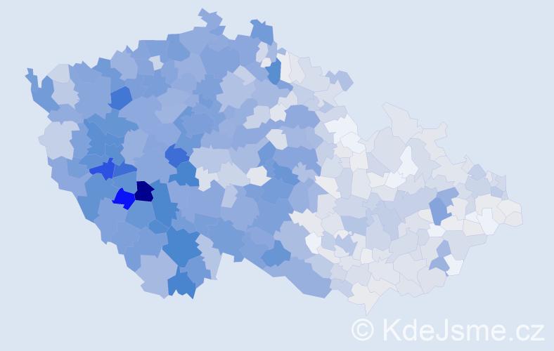 Příjmení: 'Bláha', počet výskytů 5491 v celé ČR
