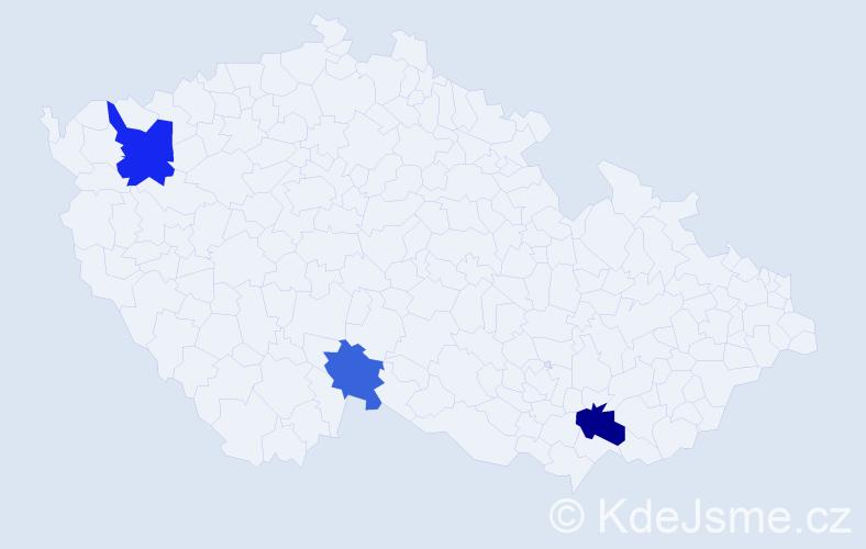 Příjmení: 'Baliová', počet výskytů 5 v celé ČR