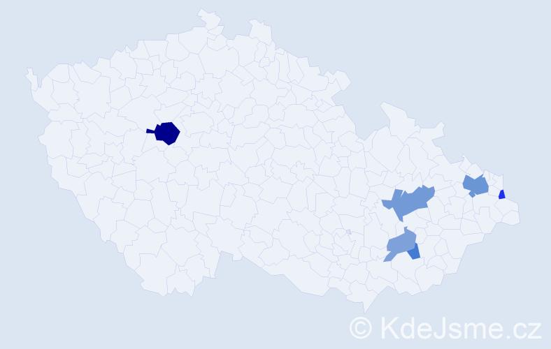 Příjmení: 'Čedroňová', počet výskytů 12 v celé ČR