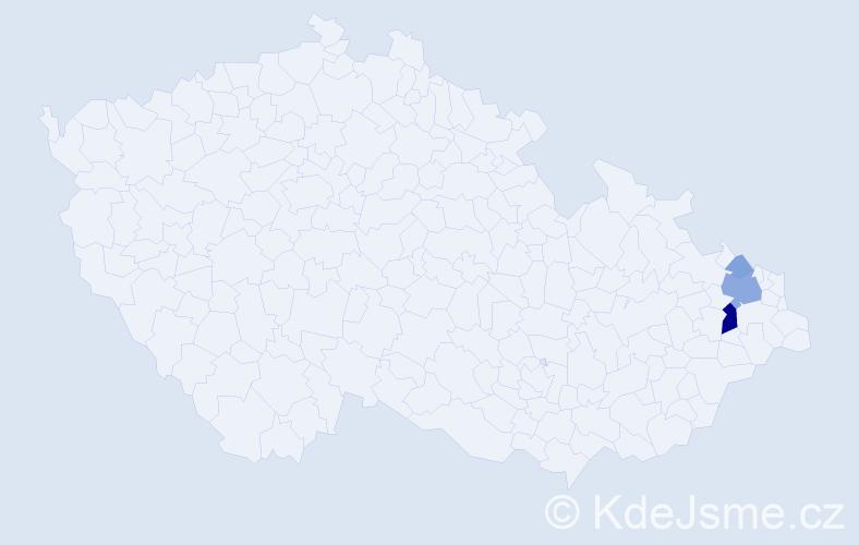 Příjmení: 'Čani', počet výskytů 9 v celé ČR